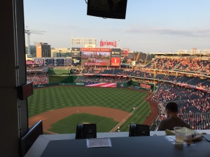 Nationals Game View from the Press Box Summer 2015