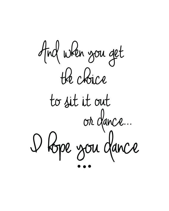 Hope You Dance Pintirest