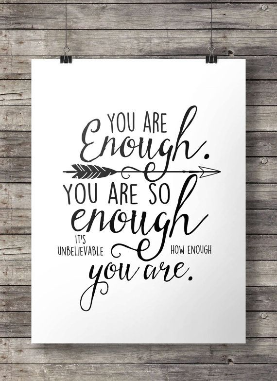 You Are Enough Pintirest