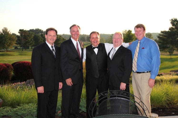 Dad and his Friends at Our Wedding July 2010