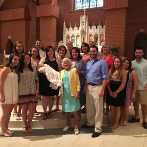 All of our family at the Baptism