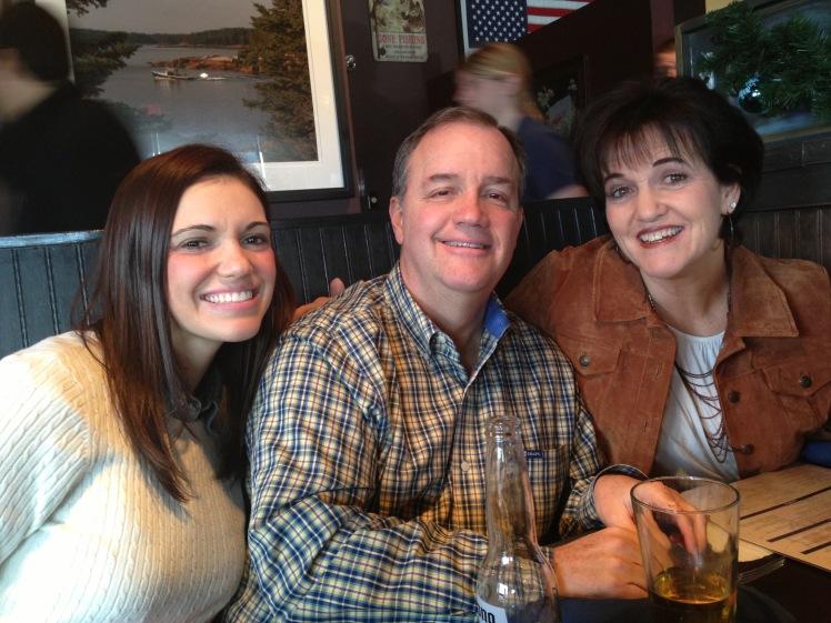 Jac, Dad, and Mom Christmas Break 2012