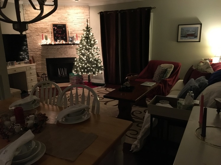 Christmas touches from friends & Dan's little spot December 2016