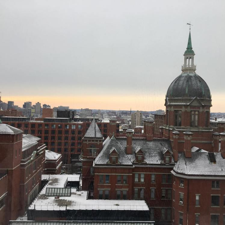 Snowy View of Hopkins January 2017
